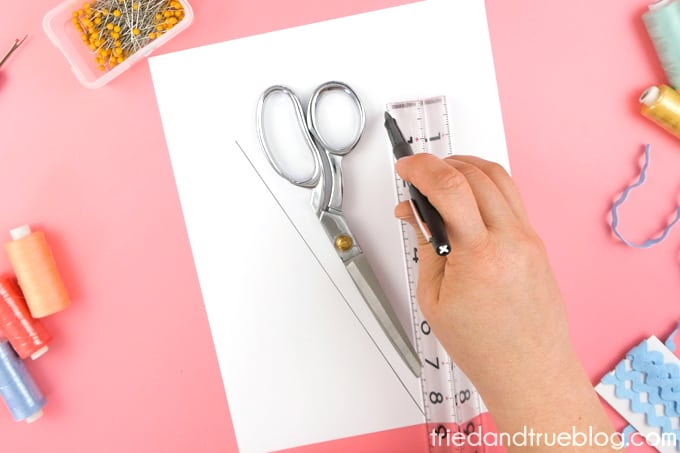 Use a ruler to make a quick template