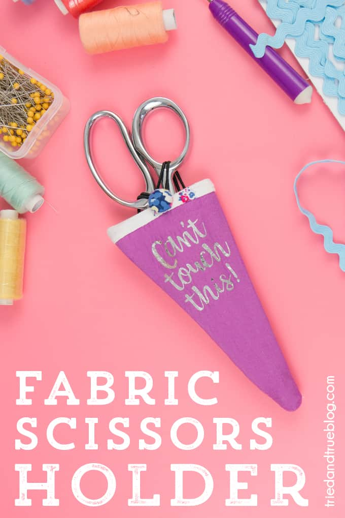 Super easy Fabric Scissors Holder that you can make with scraps!