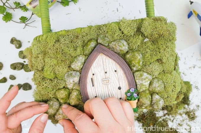 Spring Fairy Garden Basket-7