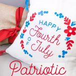Patriotic 4th of July Pillow Cover on a couch