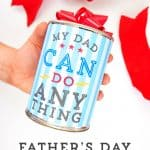 Hand holding the Father's Day Gift Can