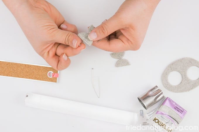 Add earring wire closure to secure shapes