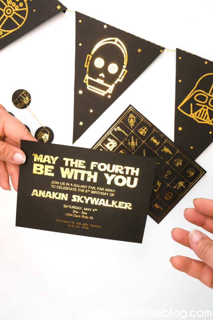 Giving the May the Fourth Star Wars Party invitation
