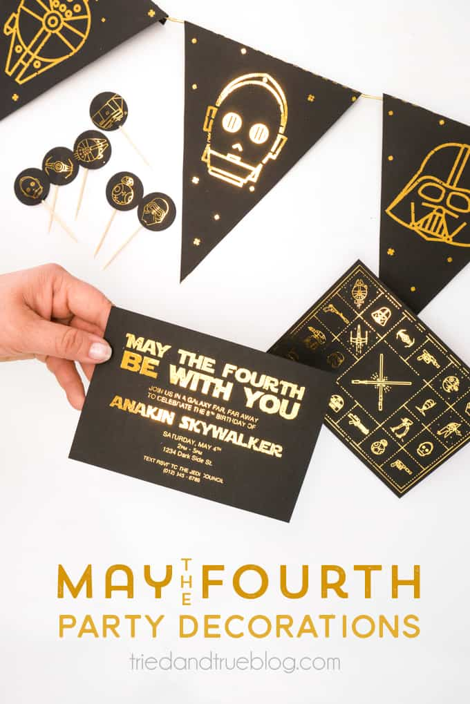 Foiled free May the Fourth Star Wars Party Decorations