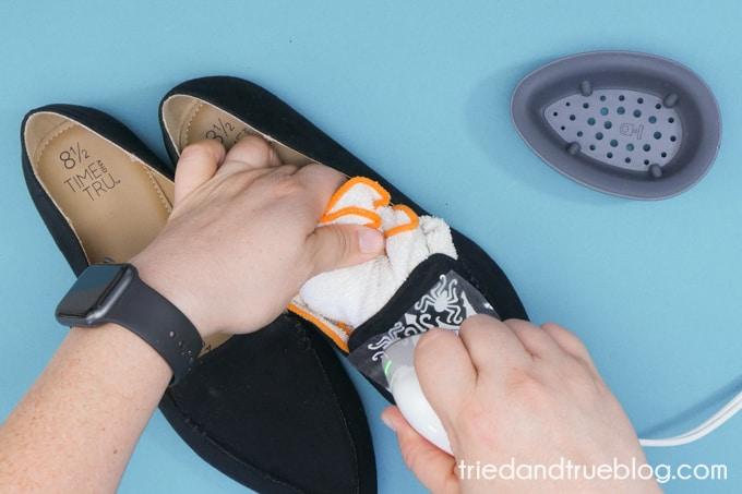Using EasyPress Mini to make Custom Halloween Shoes.
