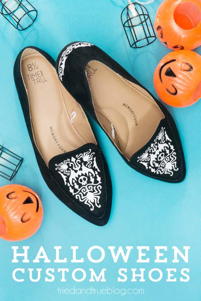 Halloween Custom Shoes with Cricut_-7
