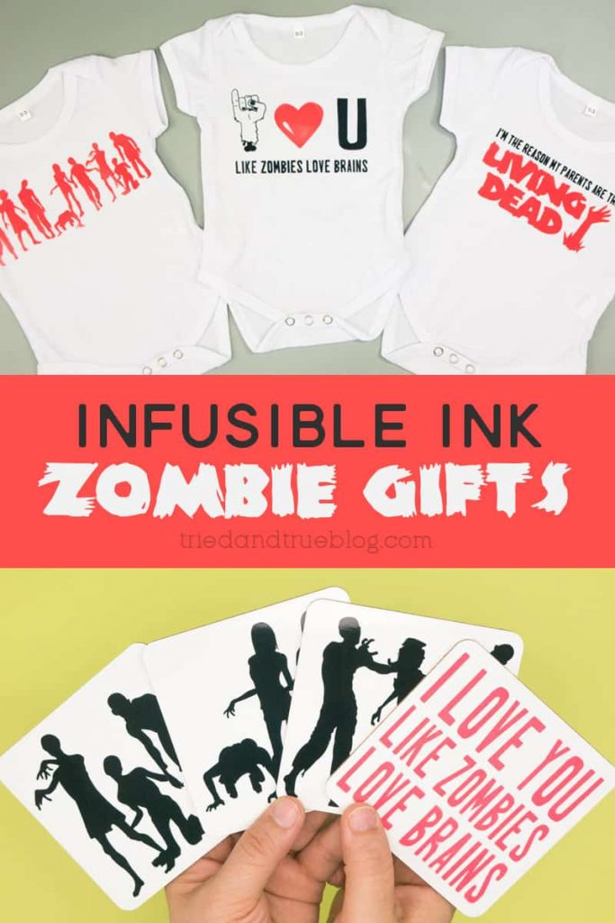 Infusible Ink Zombie Onesies and Coasters.
