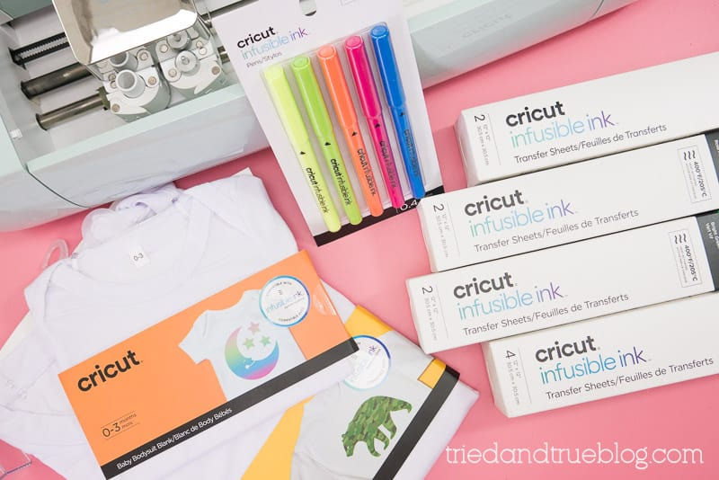Various Infusible Ink products from Cricut.