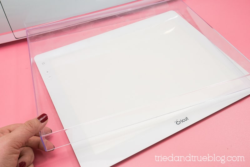 Cricut BrightPad with protective cover.