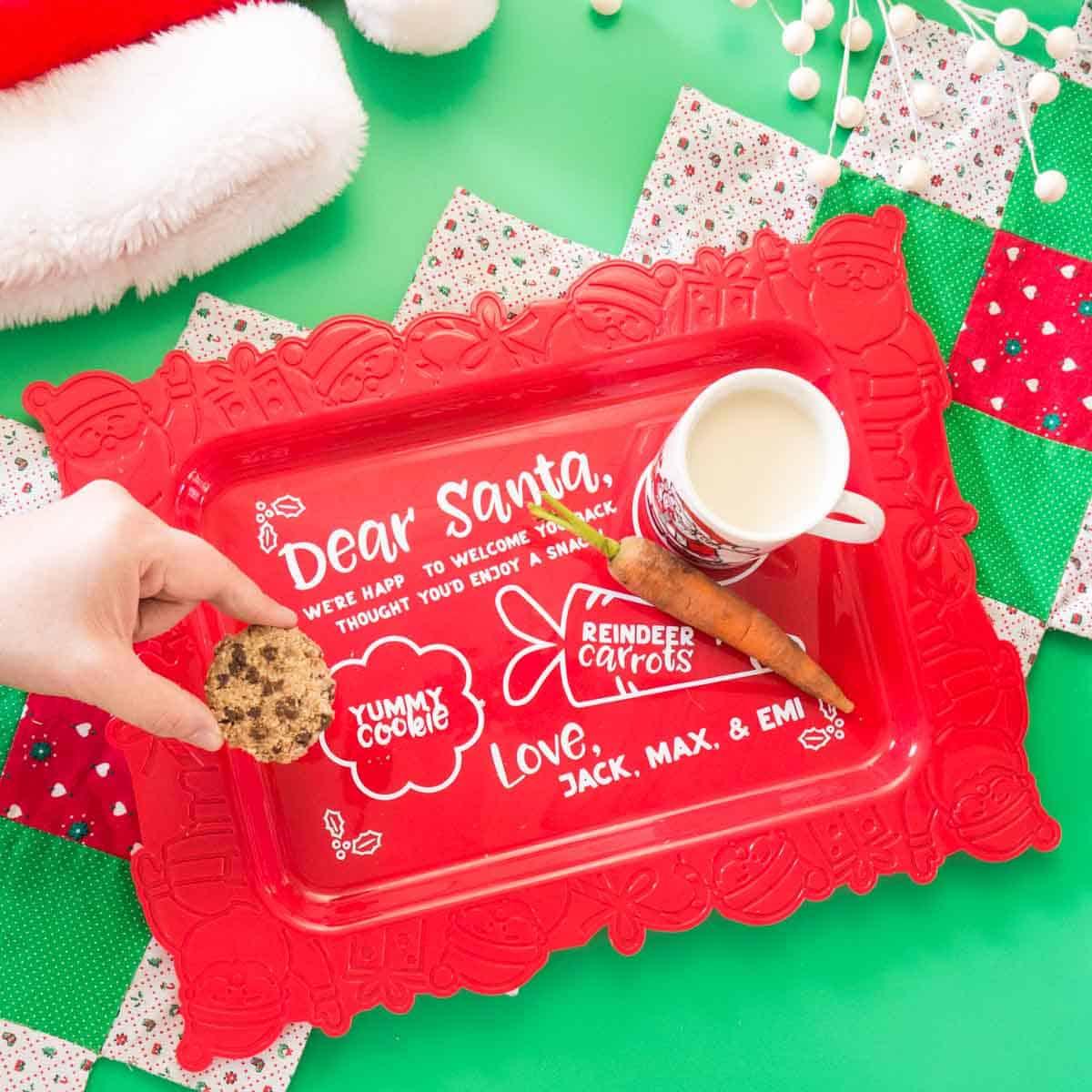 Dear Santa Snack Tray Free Svg Tried True Creative