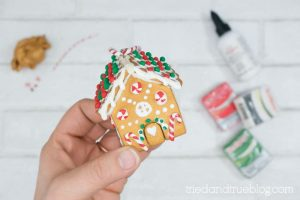 Finished Gingerbread House Ornament