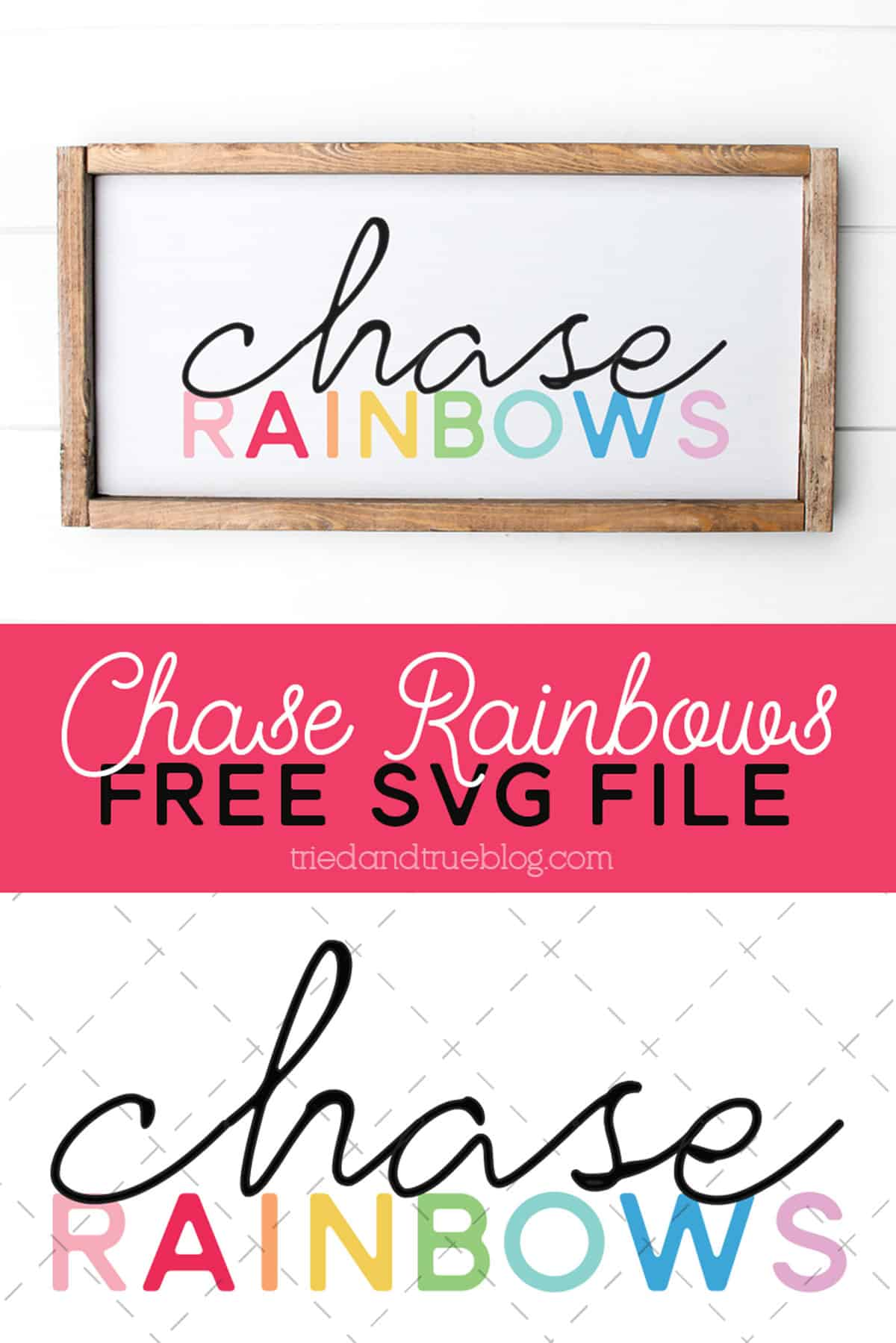 Chase Rainbows Free SVG File