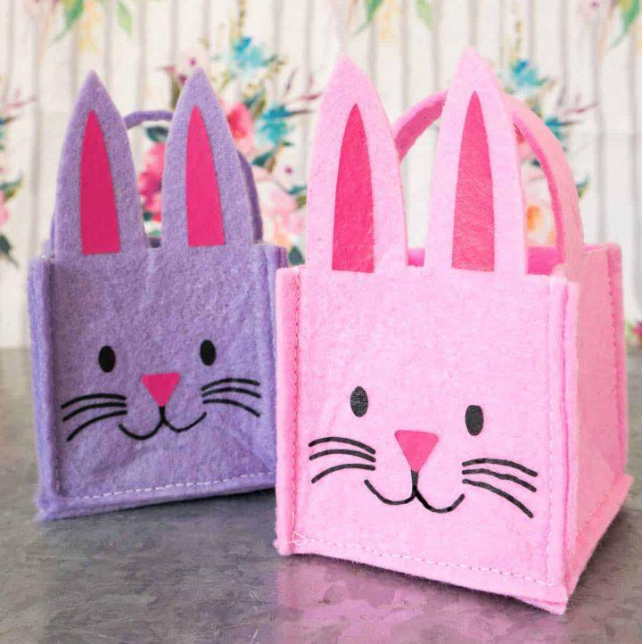 Mini Felt Bunny Easter Baskets