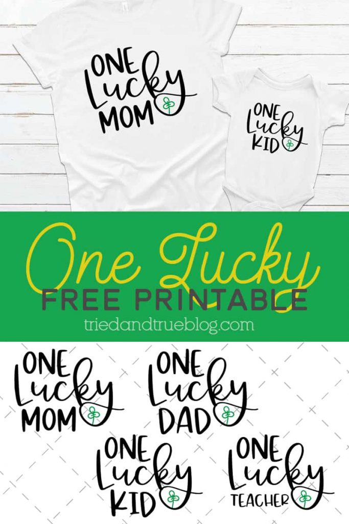 One Lucky St. Patrick's Day Free SVG File