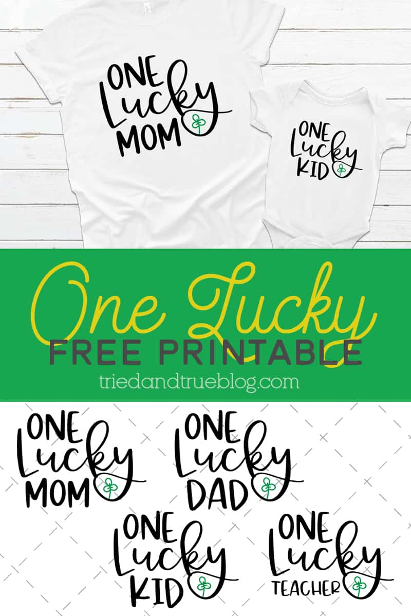 One Lucky Free Printable