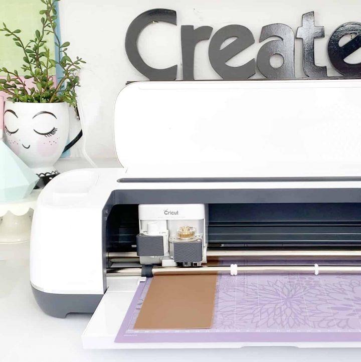 Close up of Cricut Maker machine.