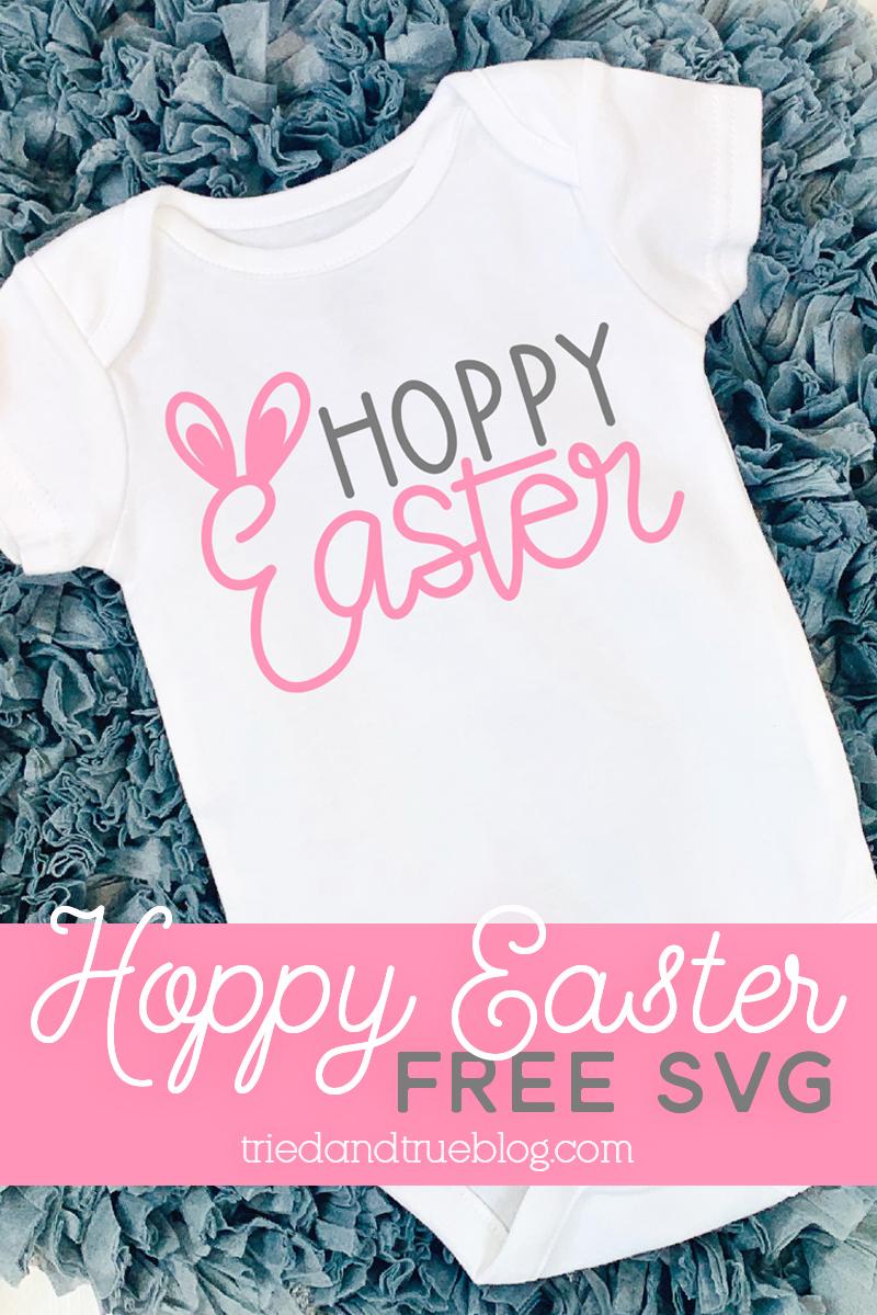Hoppy Easter Free SVG