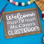 Custom Chalkboard Back To School Gift