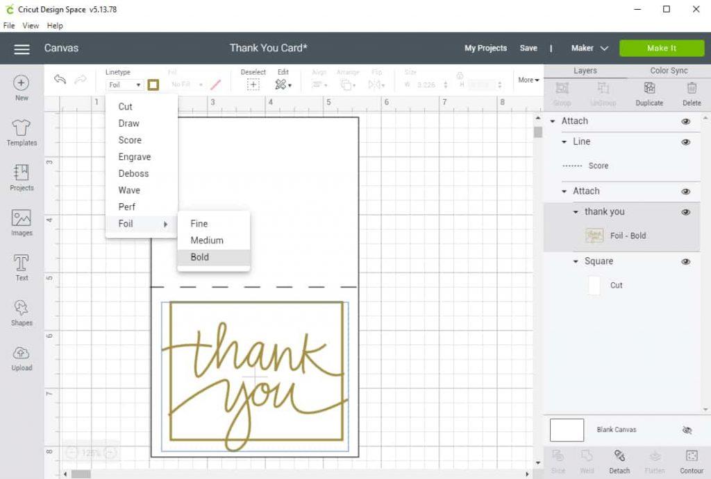Screen shot of Design Space