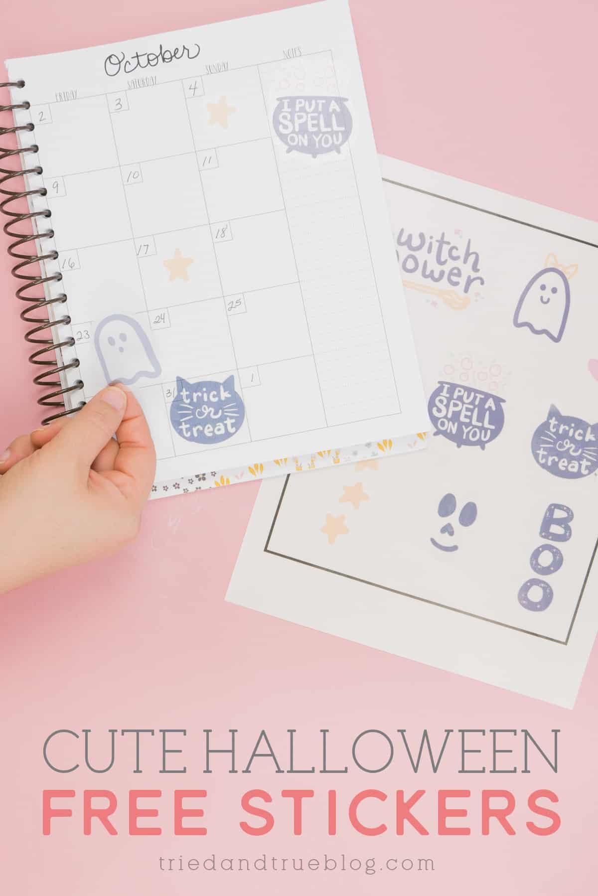 Cute Halloween Free Stickers