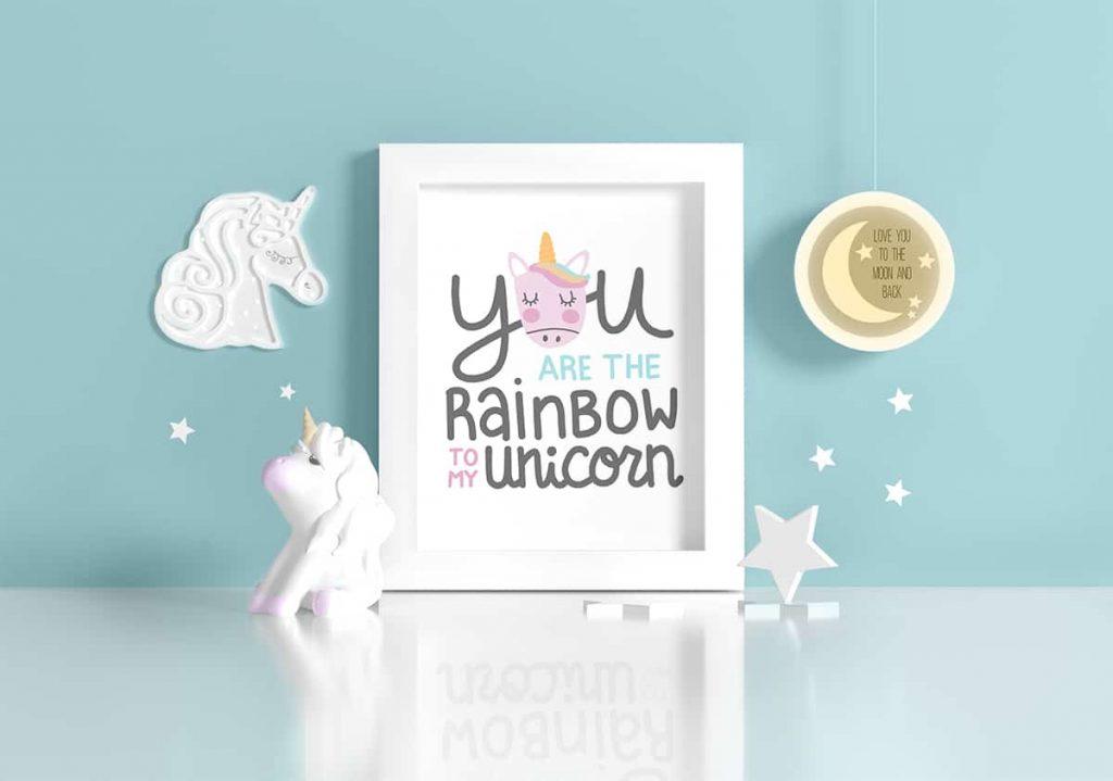 Rainbow To My Unicorn Free Printable Art - Tried & True Creative