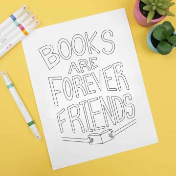 Books Are Forever Friends Coloring Page
