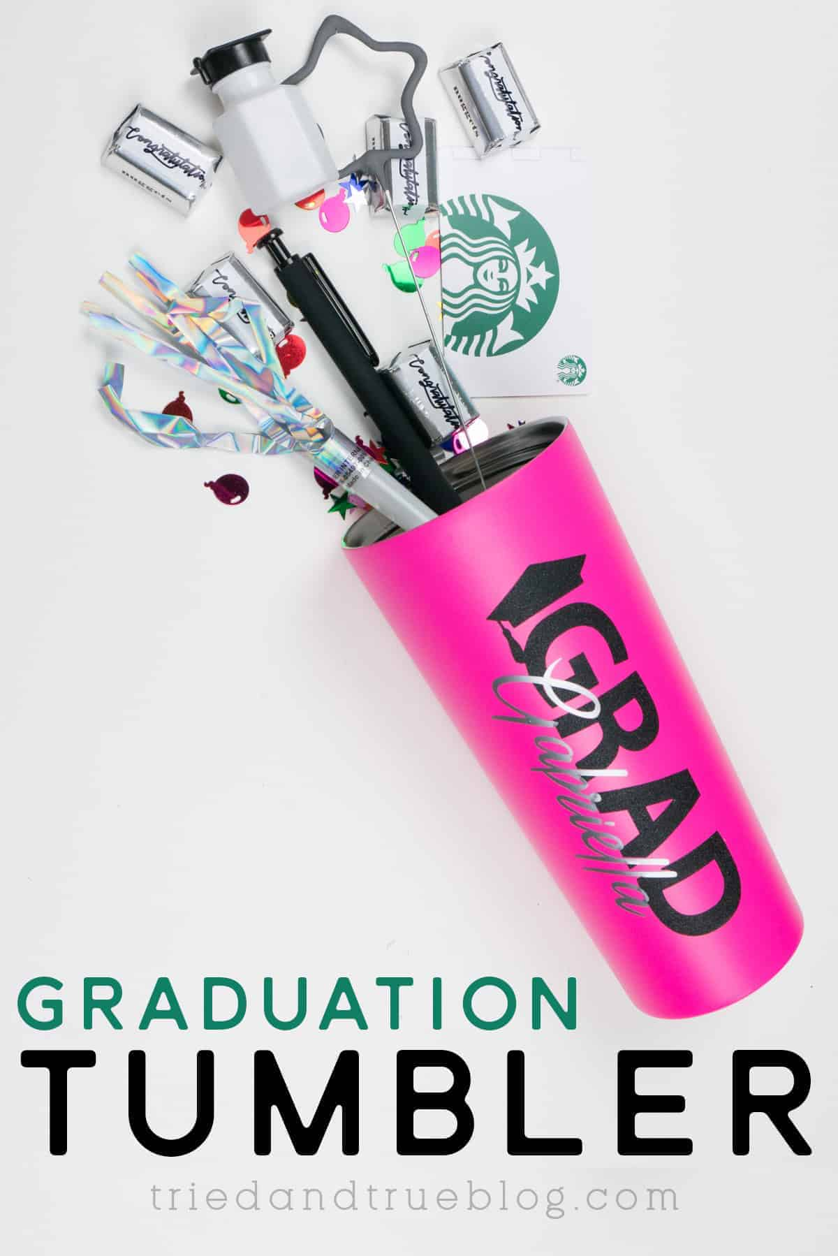 Easy Custom Graduation Tumbler