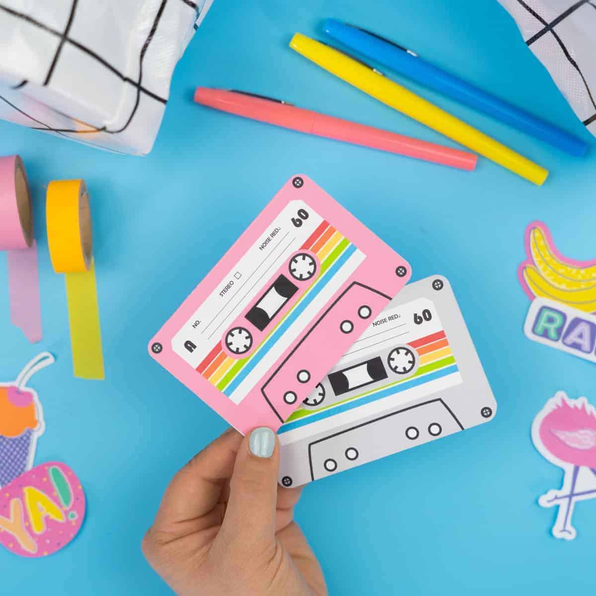 Retro 80s Cassette Tape Free Printable Card Tried True Creative