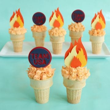 Spot-Of-Tea-Designs-Olympic-Torch-Cupcakes