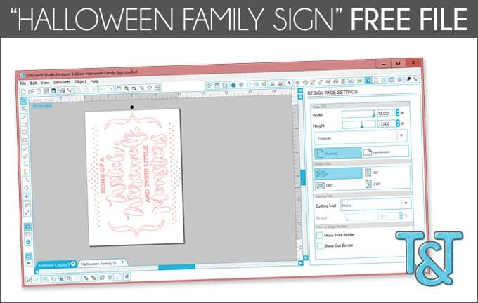 """""""Halloween Family Sign"""" Free File"""
